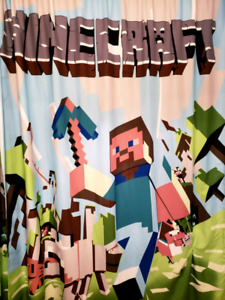 Minecraft Curtains and pillow