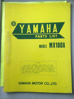 1974 Yamaha MX100A Parts List