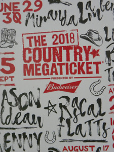 """Country Mega Ticket 2018 Toronto """"Lawns """"Reduced"""""""