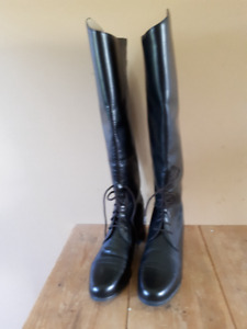 Equestrian Leather Riding Boots 9.5