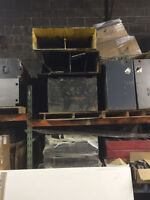 Clearing Out Used Steel Forklift Battery Cases