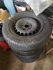 Winter tires with Steel wheels
