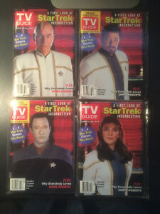 STAR TREK THE NEXT GENERATION SET OF 4 TV GUIDES