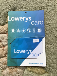 $110 Lowery's Gift Card