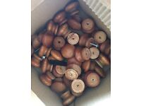 30 wooden cupboard knobs with screws