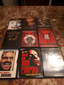 Lot of 9 horror DVD  Hannibal the shining 28 later