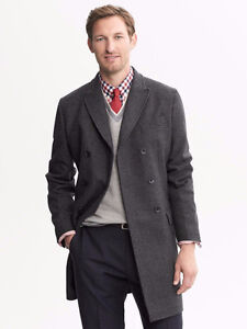 Winter Is Coming - NEW - Banana Republic Wool Plaid TopCoat 2XL