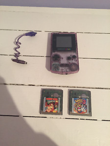 Game Boy Color, Worm Light and Two Games