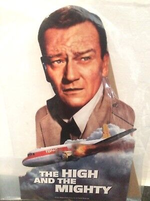 John Wayne 1954 The High and the Might Movie Promotional Cardboard Advertisement