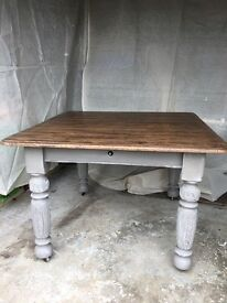 WilliamIV dining table painted in Annie Sloan