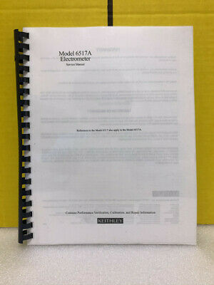 Keithley Model 6517a Electrometer Service Manual