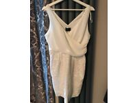 Cream sequin dress from AX Paris - size 14
