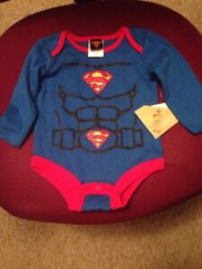 New w/ Tags Cute Long Sleeve Superman Onies
