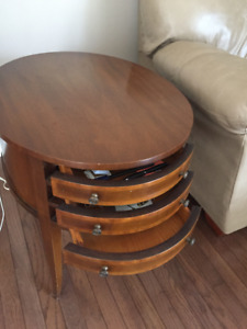 Antique end tables with drawers