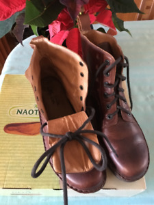NAOT winter leather boots, new in the original box