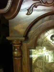 Beautiful Oak Trend, by Sligh Cable Drive Grandfather Clock London Ontario image 5
