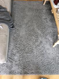 Grey ikea hampen rug