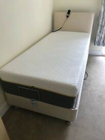 Adjustable Single Bed with Tempur Mattress and Headboard