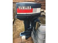 Yamaha 20hp short shaft tiller outboard boat engine RARE