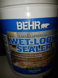 BEHR PREMIUM Concrete, Brick & Tile Wet-Look Sealer, High-Gloss