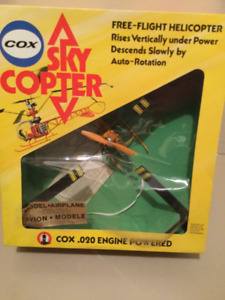 Vintage COX Sky Copter NITRO Powered Flight Helicopter 020Engine
