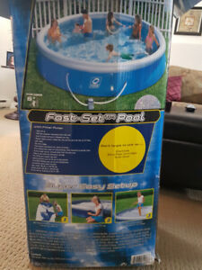 Inflatable 15 foot pool with filter & pump