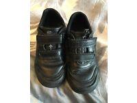 Boys Clarks black shoes 9.5f