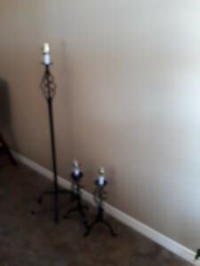 Matching Floor Lamp and two Table Lamps