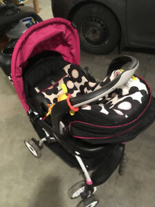 Evenflo infant car seat, base and stroller