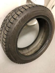4 pneus d'hiver 195/55R16 BRIDGESTONE BLIZZAK LM 60