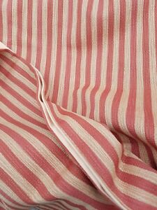 Pair Striped Pumpkin Colored Drapes