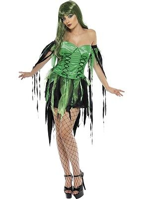 Naughty Fairy Witch Costume M UK 12/14 *HALLOWEEN CLEARANCE** Ladies Fancy Dress - Naughty Witch Costume