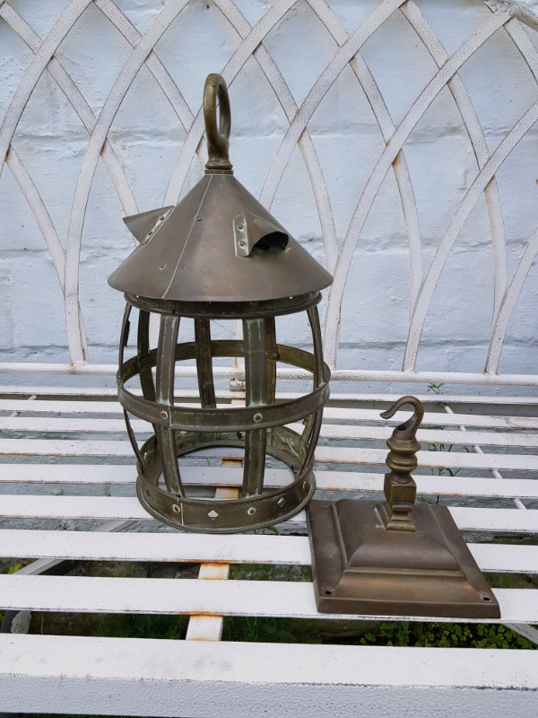 Vintage metal wall light with hook (no wiring)   in Lingfield, Surrey on