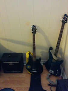 Washburn electric guitar, and amp