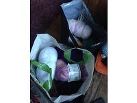 2 bags knitting supplies