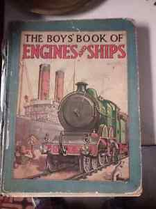 Very old book Boy's book of Engines and Ships