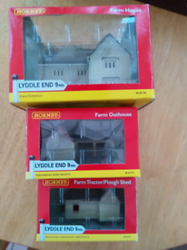 Used, N scale hornby farm buildings for sale  Darlington, County Durham