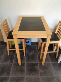 Kitchen bar stools and table