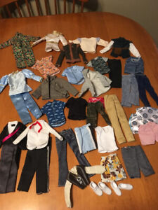 Barbie doll lot of Ken clothes and shoes