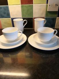 White bone china set