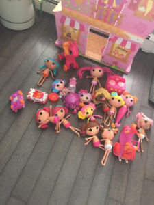 3FT TALL LALALOOPSY SEW MAGICAL HOUSE  WITH DOLLS AND MORE
