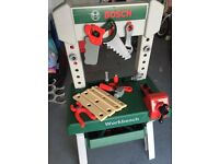 Kids work bench and tools