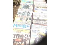 Expensive classic motor cycle magazines