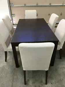 IKEA Table and 6 Chair Set