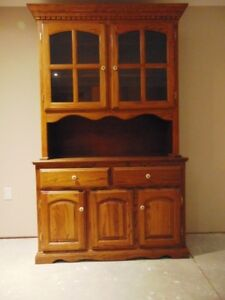 buffet and hutch solid oak