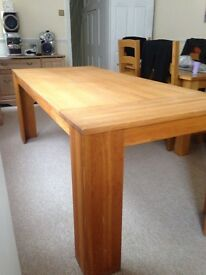 Beautiful big solid oak table