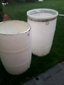 Two free plastic barrels (one left)