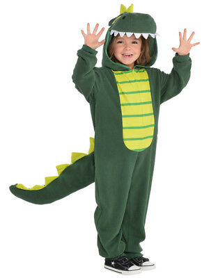 Child Zipster Dinosaur Costume T Rex Boys Girls Book Week Day Fancy Dress Outfit (Boys T Rex Costume)