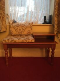 Telephone table with cushion