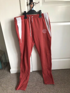 Gymshark Red Luxe Joggers Medium